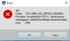 Able2Extract, MS-Office vermisst