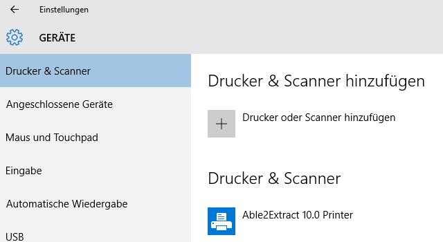 Able2Extract, Druckertreiber