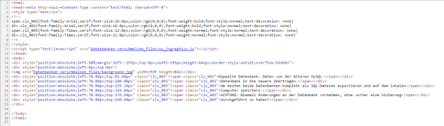 Able2Extract, Konvertierung in HTML
