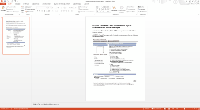 Able2Extract, Konvertierung in PowerPoint
