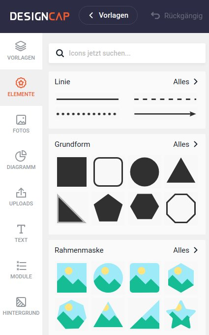 DesignCap: Design-Elemente