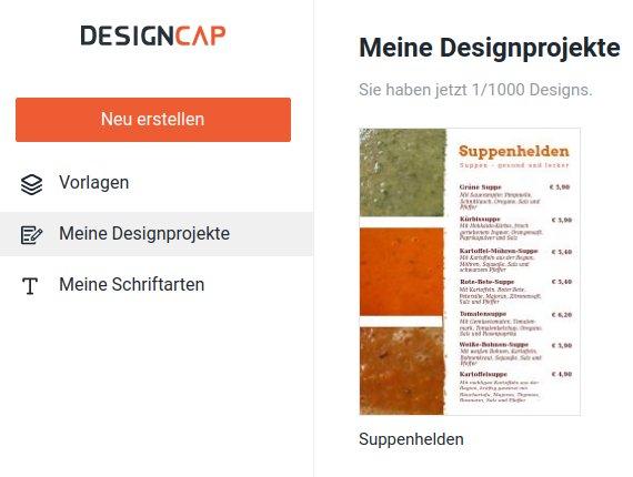 DesignCap: Meine Designprojekte
