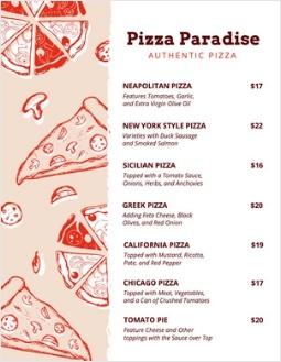 DesignCap: Pizza-Speisekarte
