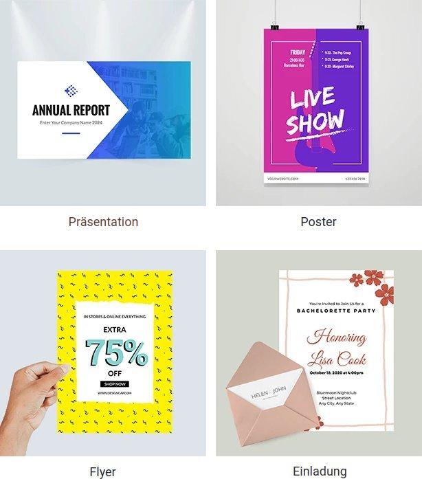 DesignCap: Printvorlagen