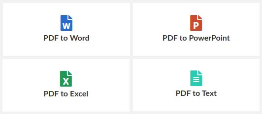 easy PDF, Konvertierung nach Office