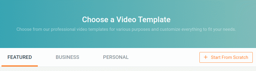 FlexClip: Choose a video template