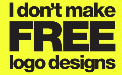 No. I don't make free logo designs
