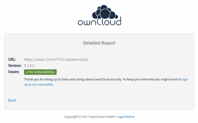 ownCloud Vulnerability Scanner