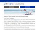Überarbeitung der Website für arthroprax