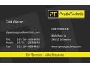 ProduTechnic: Druckvorlage für Visitenkarten nach vorgegebenem Layout