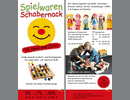 Flugblatt für Spielwaren Schabernack