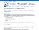Überarbeitung der Website für die Weißer-Rheinbogen-Stiftung