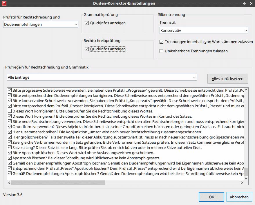 Der Duden Korrektor in TextMaker 2021